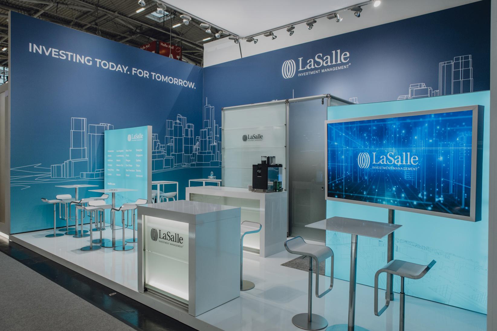 , Dokumentation des Messestandes für LaSalle Investment Management